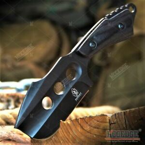 7quot; Full Tang Cleaver Tactical Fixed Blade w Wooden Hand Outdoor Hunting Camping $20.96