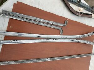 1966 67 Chevy Nova Used Back Window Glass Trim Moldings 5 Piece Set