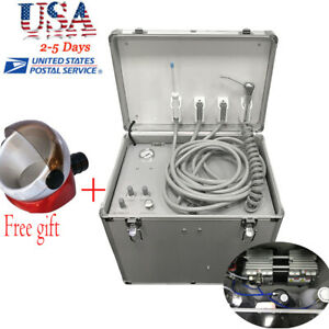 Ce Mobile Dental Rolling Case Delivery Unit 3 w Syringe suction System 4 Holes