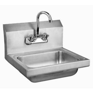Stainless Steel Wall mount Hand Sink With Faucet Drain