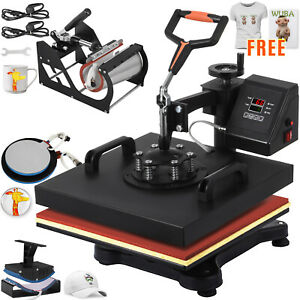 5 In 1 Heat Press Machine Transfer Free Transfer Paper Hat Plate Free T shirt
