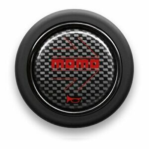 Momo Horn Button Carbon Red Hb07
