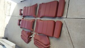 Bmw E30 325i 318i 325is Sport Seats Cardinal Red Upholstery Kits M3 Convt New