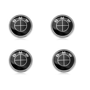 4x For Bmw Black Wheel Center Caps Hub Emblem Badge Cover 68mm 36136783536