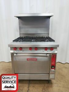 Vulcan Gh56 Commercial 6 Burner Gas Restaurant Range