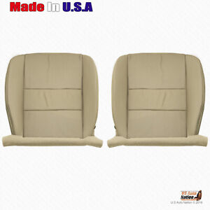 For 2009 To 2014 Acura Tsx Driver And Passenger Bottoms Leather Seat Cover Tan