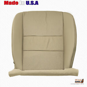 For 2013 2014 Acura Tsx Front Driver Bottom Tan Perforated Leather Seat Cover