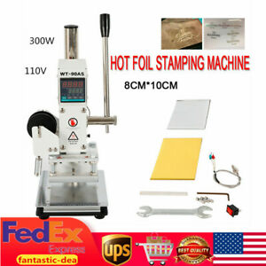 300w Digital Hot Foil Stamping Bronzing Machine Leather Card Logo Stamp 8 10cm