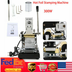 Manual Hot Foil Stamping Machine Leather Card Logo Bronzing 2 4x3 5 hot Plate Us