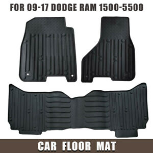 Fits For 2009 2017 Dodge Ram 1500 Quad Cab Rubber Slush Car Floor Mats Oem