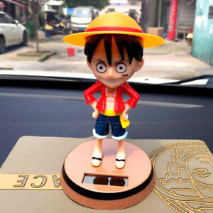 Shaking The Head One Piece Monkey D Luffy Car Accessory Decoration Toy Ornament