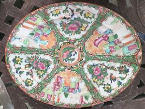 1840 S Or 50 S Chinese Export Rose Medallion 13 5 Oval Platter