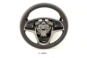 New Gm Oem Cadillac Ats 13 19 Black Leather Steering Wheel Ats V V 84304433