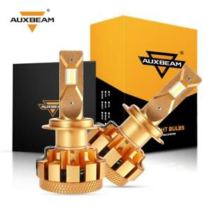 Auxbeam H7 70w 7000lm Led Headlight Conversion Kit Bulbs 6000k Canbus Adapter