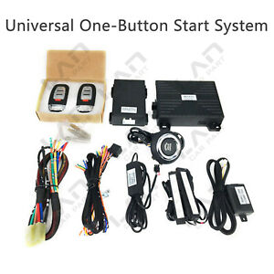 Car Keyless Entry Engine Start Alarm System Push Button Remote Starter Kit