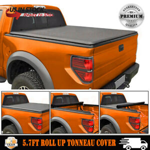 Soft Roll Up Tonneau Cover For 2009 18 Dodge Ram 1500 Crew Cab 5 7 Ft Short Bed