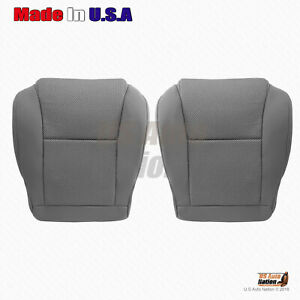 For 2009 2015 Toyota Tacoma Driver Passenger Bottoms Cloth Seat Cover Graymanual
