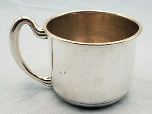 Vintage Sterling Silver Baby Cup By Fred Hirsch Co 7062