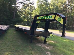 2019 40 Ft Gatormade Gooseneck Flat Bed Hot Shot Trailer With Ramps