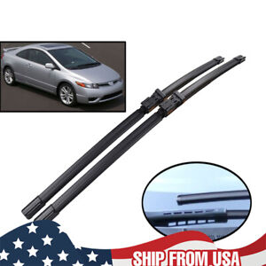 2pcs Front Windshield Wiper Blades Kit For Honda Civic Mk8 Coupe 05 2011 28 24