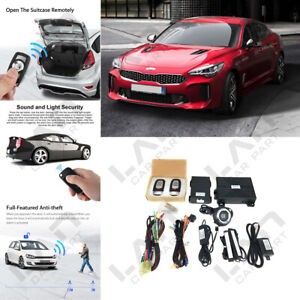 Keyless Entry Engine Start Alarm System Push Button Remote Starter For Kia