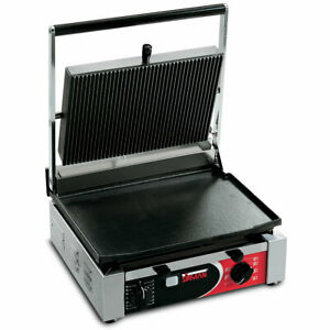Sirman Cort L Single Panini Grill W Grooved Top And Flat Bottom
