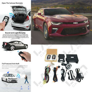 keyless Entry Engine Start Alarm System Push Button Remote Starter For Chevy