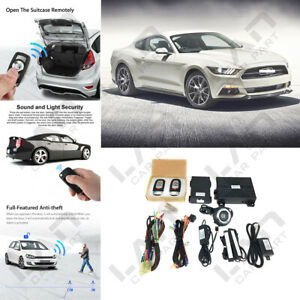 Keyless Entry Engine Start Alarm System Push Button Remote Starter For Ford