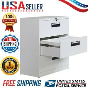 Office Lateral File Cabinet anti tilt Structurefile Storage Organizer 3 Drawers