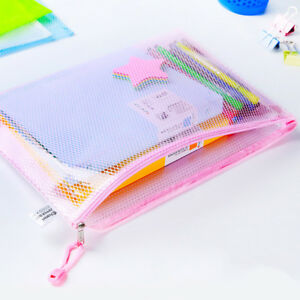 New A4 Zipper Bags Document Filing Paper Archive Folder Files Stationery Storage