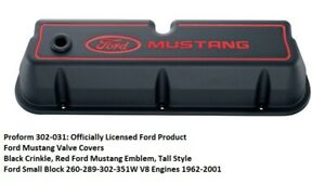 Proform 302 031 Ford Mustang Valve Covers Black Small Block Ford Engines