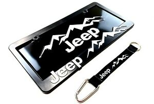 Jeep license Plate frame lanyard Kit Wrangler rubicon cherokee renegade compass