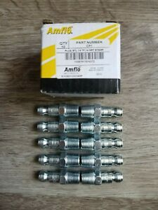 Qty 10 Amflo Automotive Truflate Style Air Fitting Plugs To 1 4 Male Npt Cp1