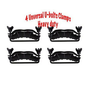 4 U bolts Roof Basket Luggage Rack Clamps Steel Heavy Duty New