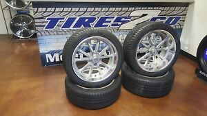 20 C10 Tire And Wheel Package Staggered 20x8 20x9 5 Us Mags Rambler U111 5 5