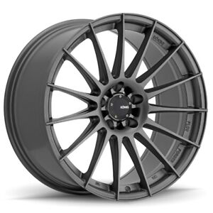 Konig Rennform 19x9 5 35 5x120 Matte Grey Set Of 4