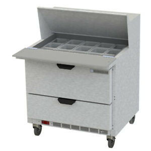 Beverage Air Sped36hc 15m 2 Sandwich Prep Tables new