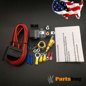 Electric Fan Wiring Install Kit Complete Thermostat 60 Amp Relay 185 Sbc Bbc