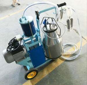 Piston Milker Electric Milking Machine Stainless Steel Bucket For Cows And Goats