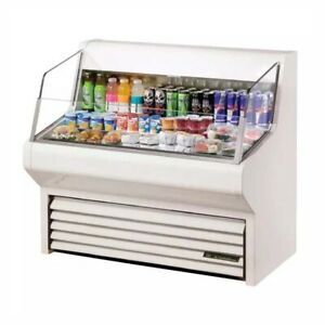 True Mfg Thac 48 ld Open Display Merchandisers White