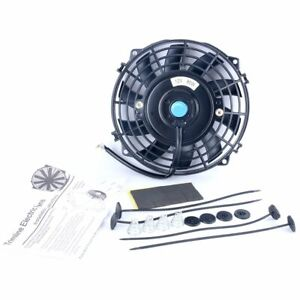 7 Auto Black Electric Radiator Cooling Fan With Fan Mounting Kit 12v 80w New