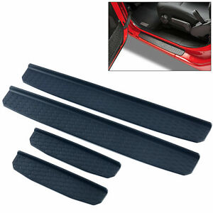 Black 4 Door Sill Guards Protector Scuff Trim Fit For 2018 Jeep Wrangler Jl New