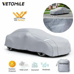 Universal Car Cover Waterproof Sun Uv Snow Dust Rain Resistant Scratch Protector