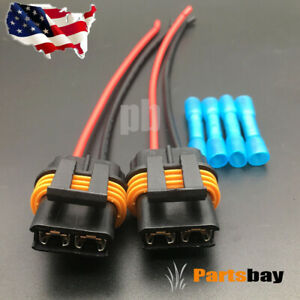 2x Fan Cooling Connector Pigtail Wiring Harness Corvette Camaro Tpi Lt1 Ls1 Ls6