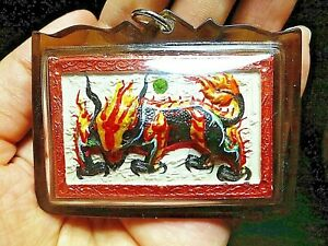 Rare Power Magic Kirin Qilin With Code By Kruba Krissana Thai Buddha Amulet