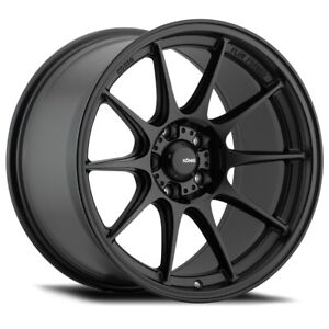 Konig Dekagram 19x9 5 25 19x10 5 23 5x114 3 Semi Matte Black Set Of 4