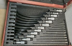 Starrett No 436 0 Mm To 300 Mm Outside Micrometer Set Carbide Faces Metric