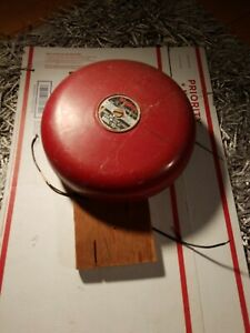 Amesco Fire Alarm Gong Bell Mbl 10 10in Size Red