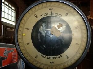 Vintage Floor Model 250 Lbs Toledo Scale Style 801a