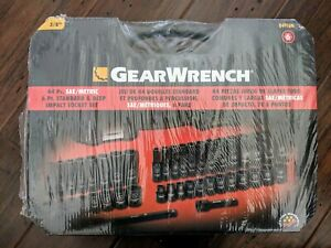 Gearwrench 84916n 44 Pc 3 8 Drive 6 Point Sae metric Impact Socket Set